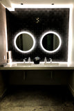LED Bathroom Vanity Mirror Round Side Lighted 32x32 D