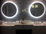LED Bathroom Vanity Mirror Round Side Lighted 32x32 E