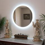 LED Bathroom Vanity Mirror Round Side Lighted 32x32 F