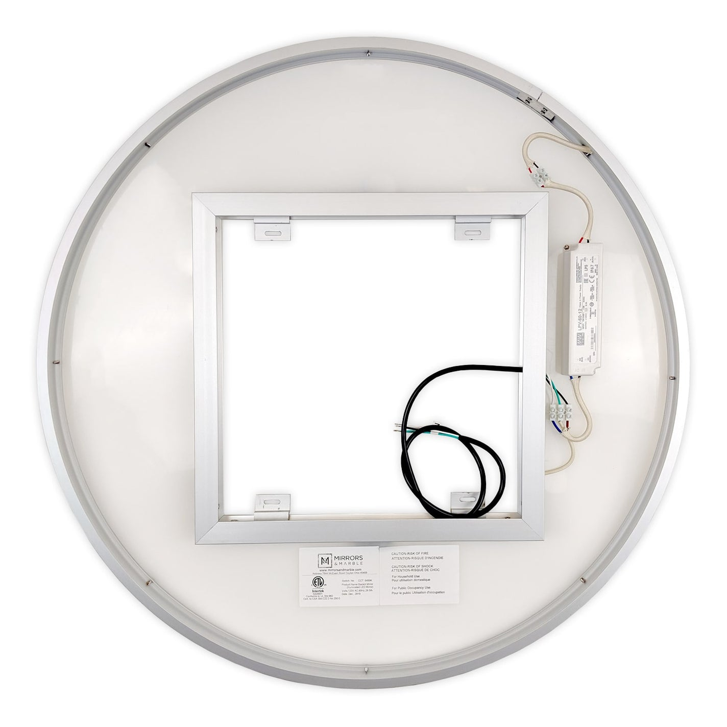 Side Lighted Led Bathroom Vanity Mirror 36 Quot X 36 Quot Round