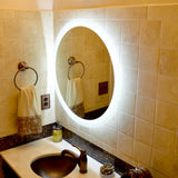 LED Bathroom Vanity Mirror Round Side Lighted 44x44 B