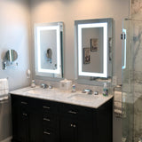 "Lighted LED Bathroom Mirror Medicine Cabinet: 24"" Wide x 32"" Tall - Flush-Mounted - Hinged on Right - 6,000 Kelvin"