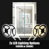 Add 2nd LED / Switch / Dimming for 2x Brightness - Large Mirrors