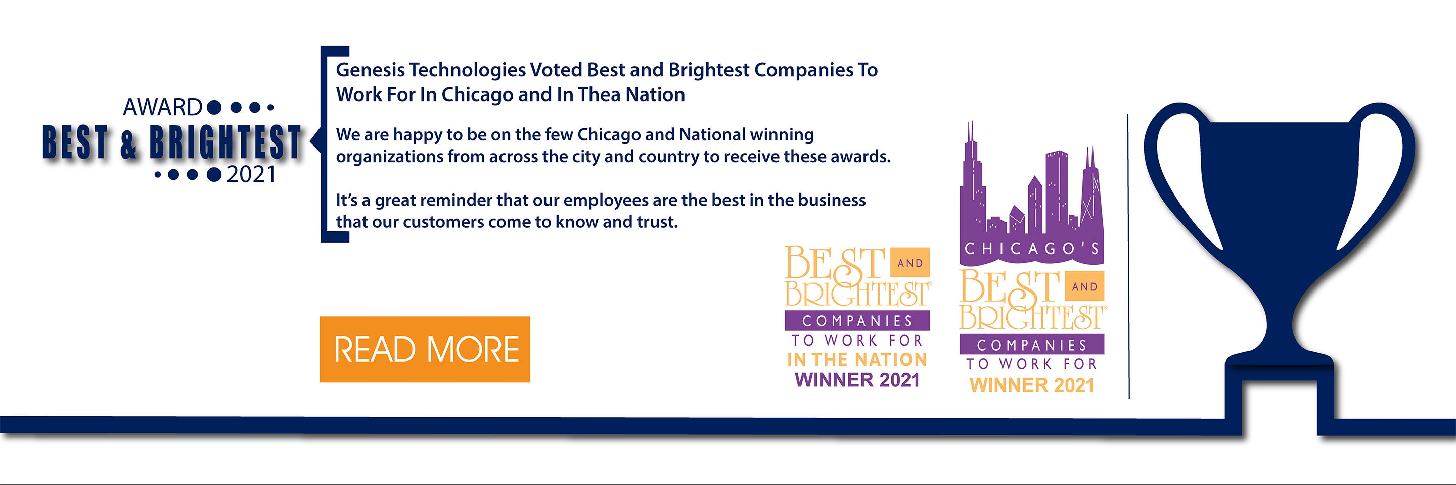 Genesis Technologies Recognized as one of the 2021 Best and Brightest Companies to Work For In The Nation