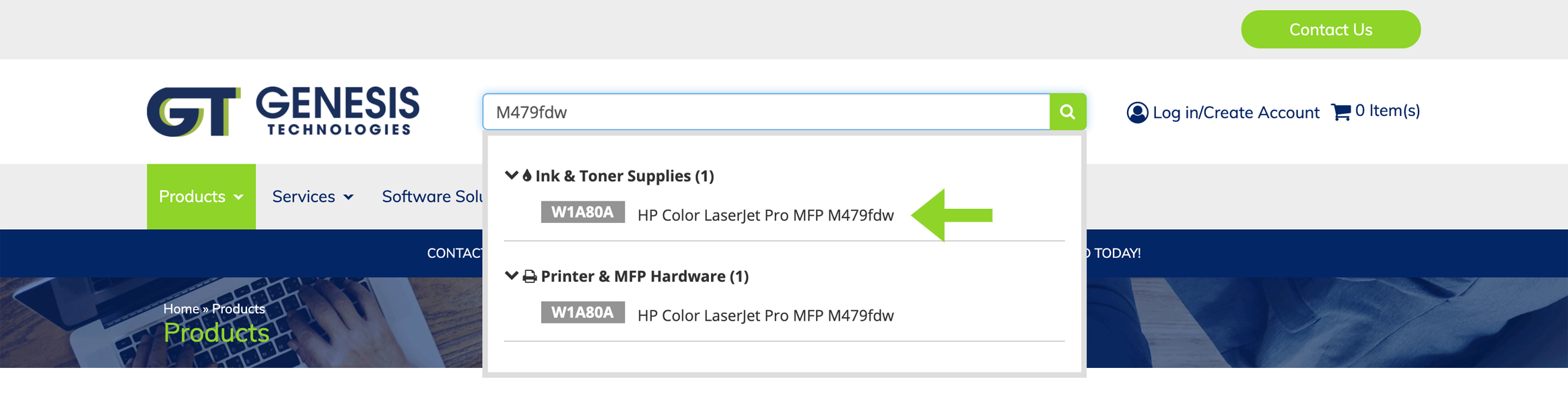Model number example: image showing advanced ink and toner search results. It has never been easier to find toner catridges and printer ink cartridges online.