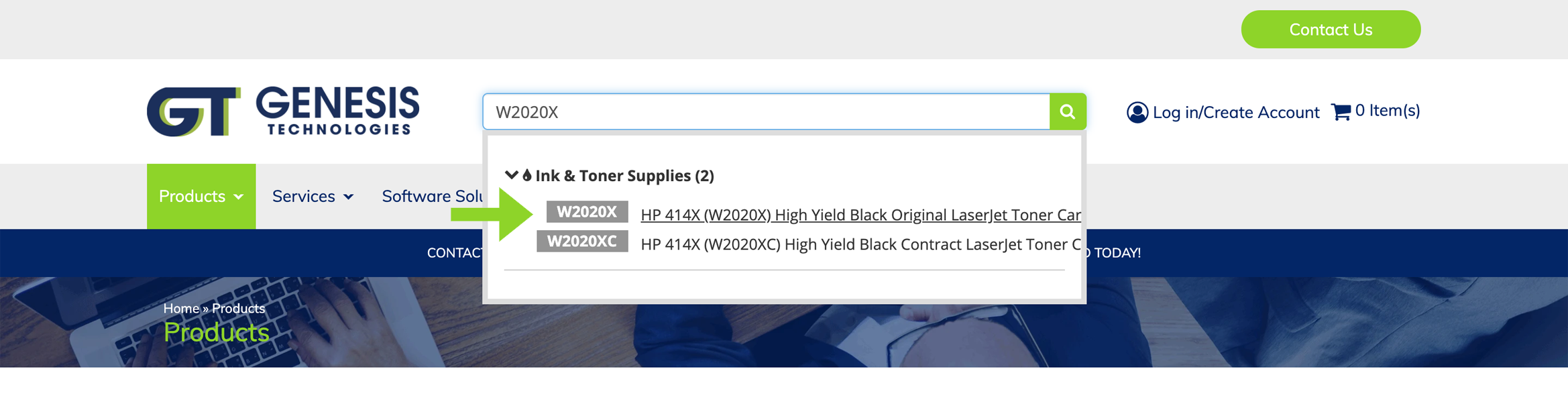 Part number example: image showing advanced ink and toner search results. It has never been easier to find toner catridges and printer ink cartridges online.