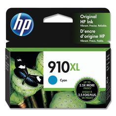 HP 910XL (3YL62AN) OfficeJet Pro 8020 Cyan Original Ink Cartridge (825 Yield)