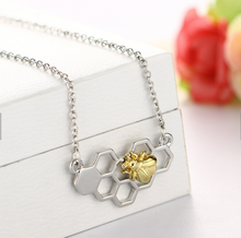 Honeycomb Bee Necklace with 10g wild flower seeds