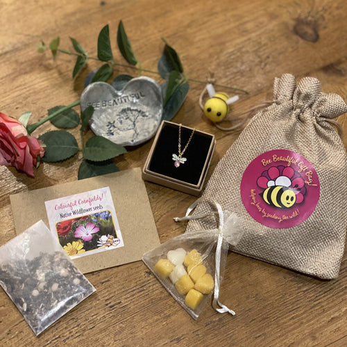 Bee Beautiful Gift Bag - 'You Deserve a Treat' Gift for Someone Special in your Life!