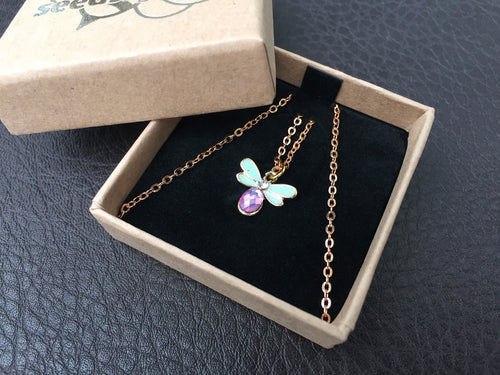 Jewelled Bee Necklace