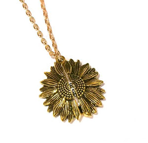 Sunflower 'You Are My Sunshine' Necklace with 10g wild flower seeds