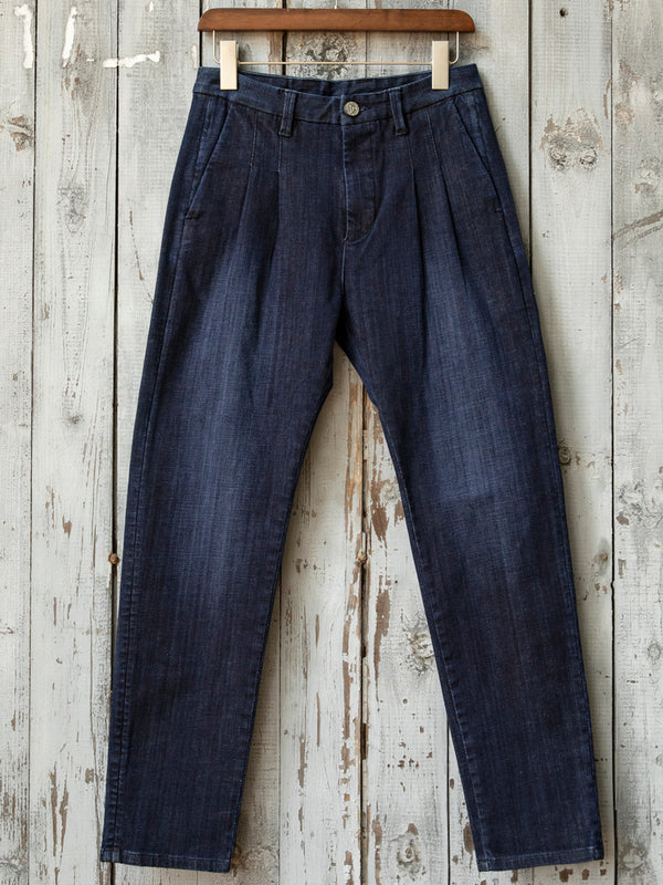 Simple denim trousers