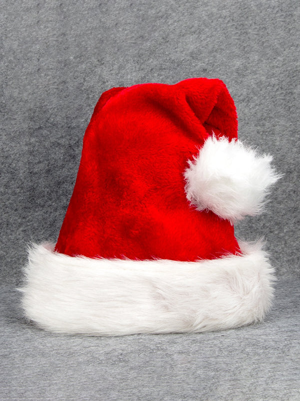 Thicken Plush Christmas Hat For Adult Child