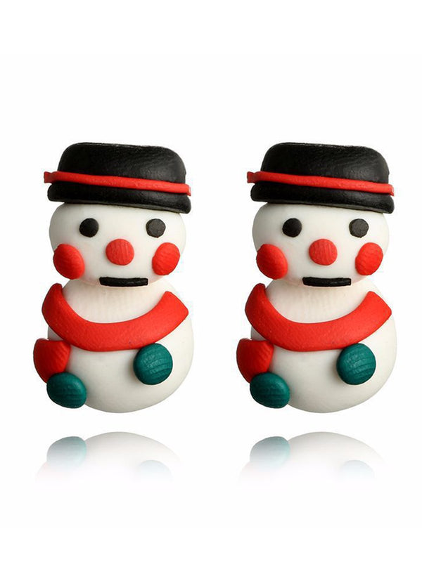 Christmas Creative Snowman Earrings