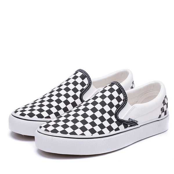 Canvas Checkerboard Loafers