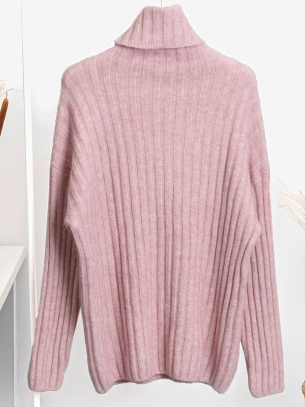 Long Sleeve Turtleneck Casual Sweater