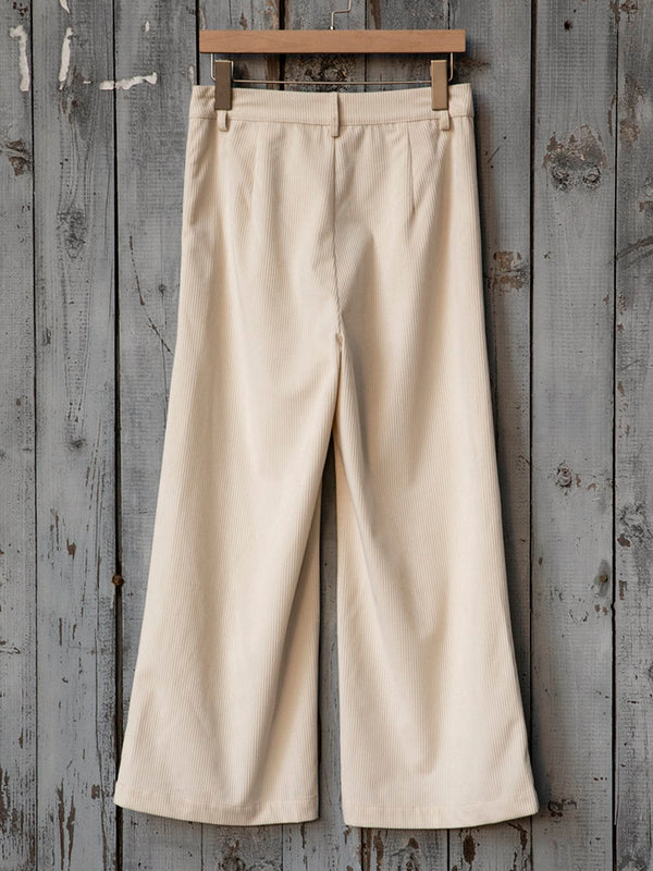Casual loose corduroy trousers