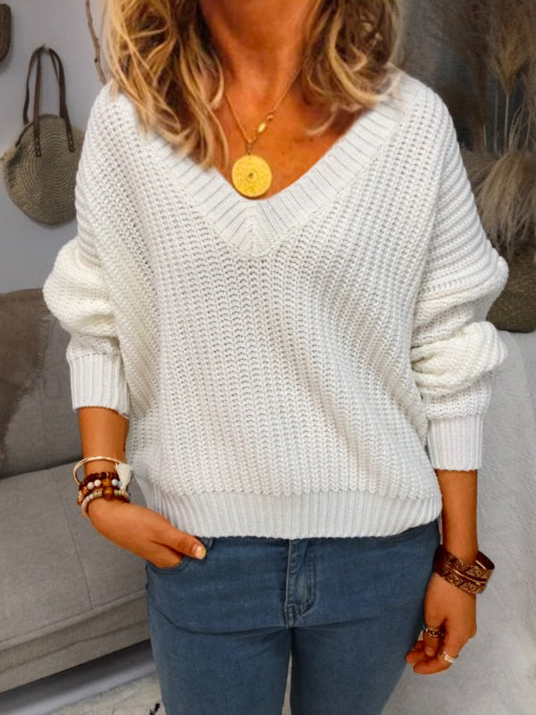 Shift Casual Plain Long Sleeve Sweater