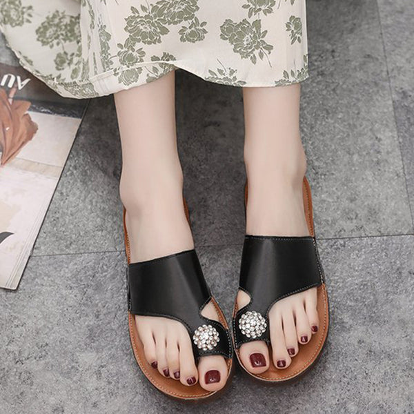 Casual Rhinestone Flat Heel Shoes