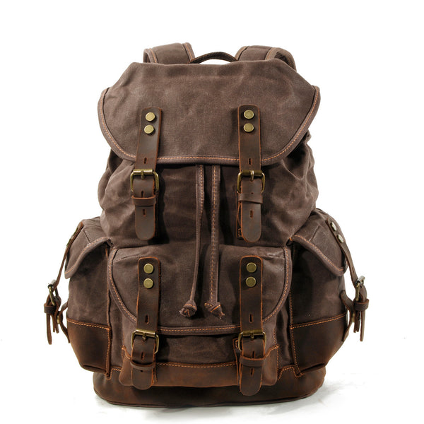 Vintage Canvas Leather Backpacks