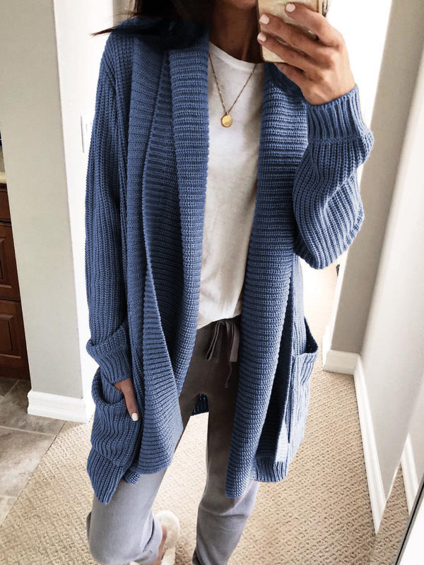 Women Sweaters Knitted Solid Casual Long Sleeve Sweaters