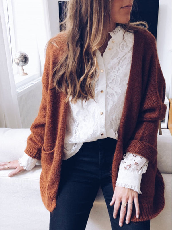 Knitted Vintage Long Sleeve Outerwear