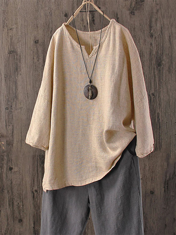 Long Sleeve Round Neck Tops
