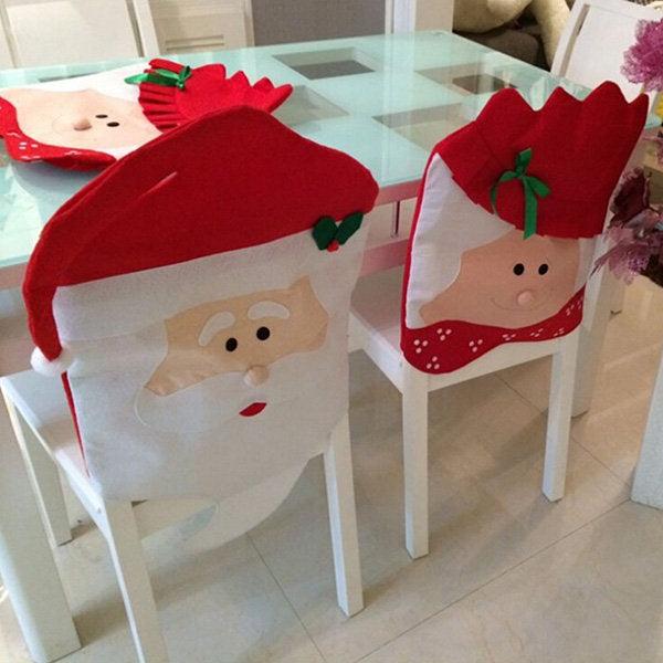 Christmas Chair Covers Santa Claus Christmas Decoration Chair Cover Home Party Decor