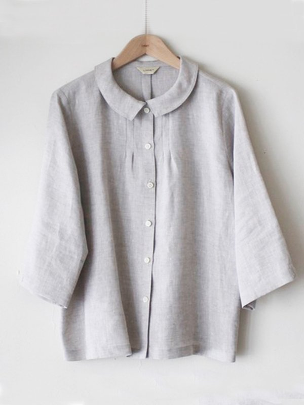 Casual Cotton-Blend Tops