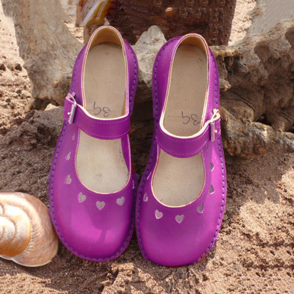 Retro Hollow Out Soft Loafers