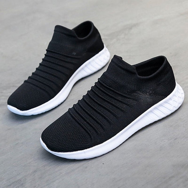 Daily Low Heel Flyknit Fabric Sneakers