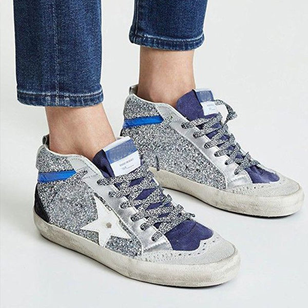 Women Chic Lace Up Sneakers