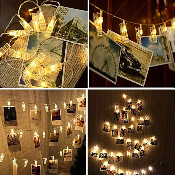 Photo String Lights With Clips