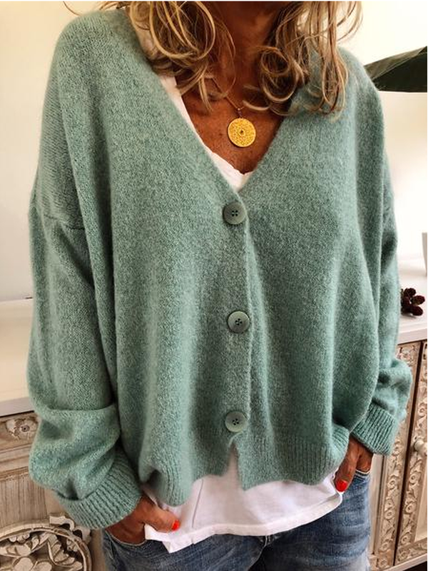 V Neck Cashmere Cardigans Sweater