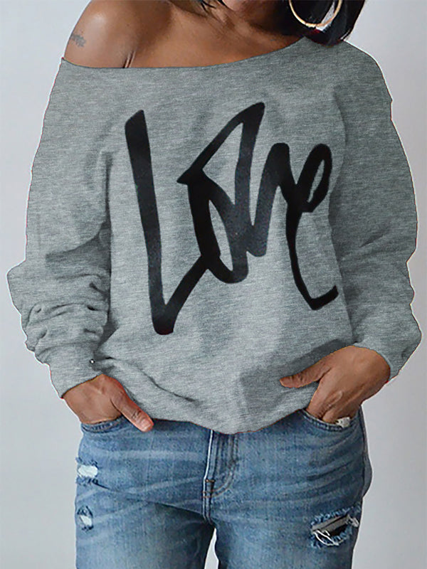 Long Sleeve Round Neck Hoodies&sweatshirts