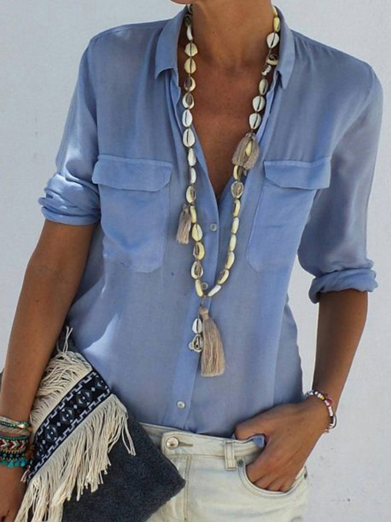 Blue White Coral Black Women Tops Tops