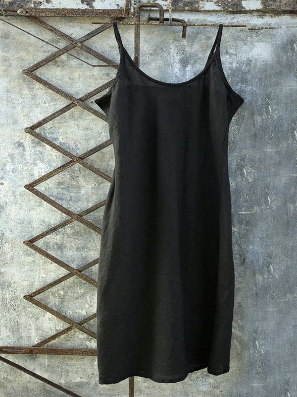 Casual Sleeveless Solid Dress