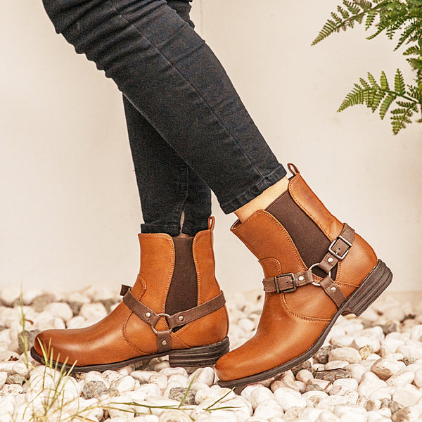 Brown Winter Pu Boots