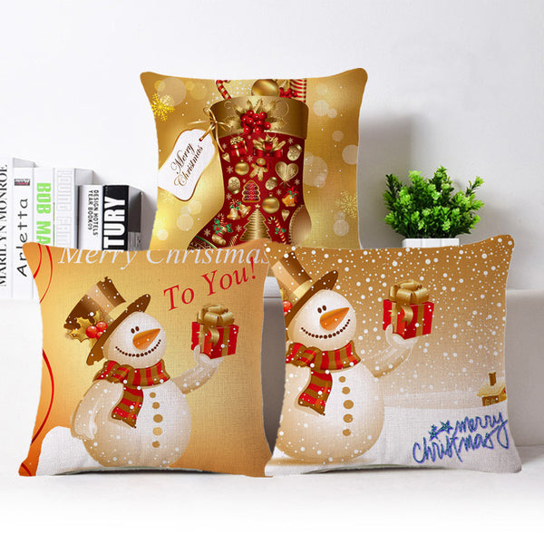 Northern European Style Christmas Pillow Case Cushion Cover for Home Office Car
