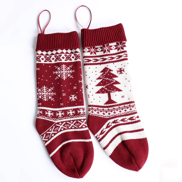 【Free shipping】Snowflake Christmas Tree Gift Bag Decorative Socks Big Candy Bag Christmas Socks
