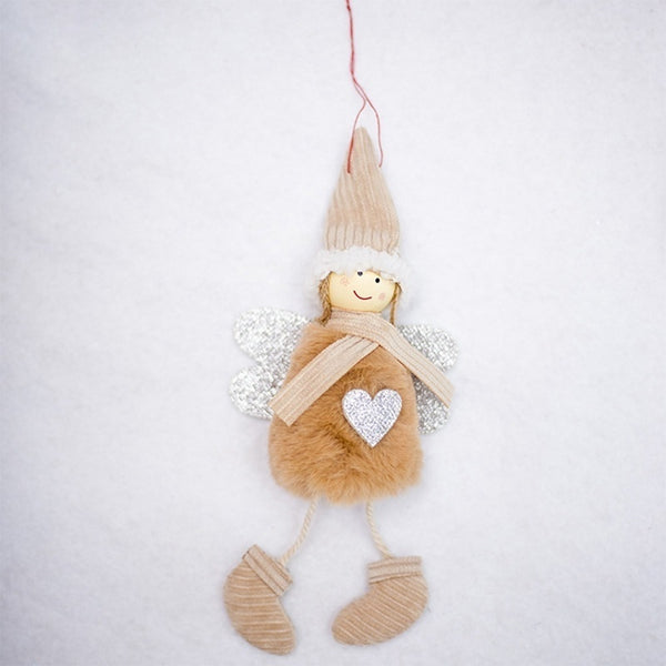 New Cute Angel Plush Doll Christmas Decoration Pendant Creative Christmas Tree Ornaments Christmas Decoration