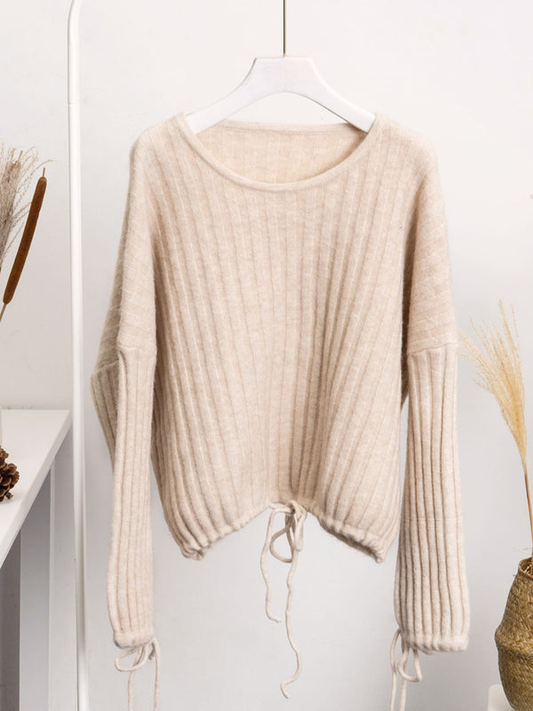 Loose knitted sweater