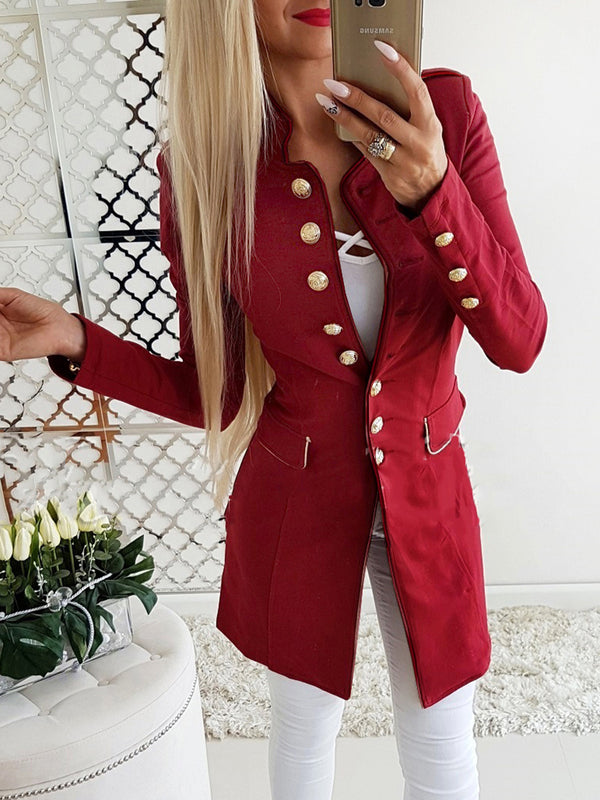 Casual Stand Collar Coat