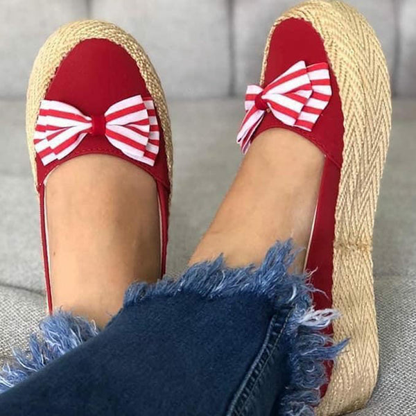 Women's Casual All Season Bowknot Loafers