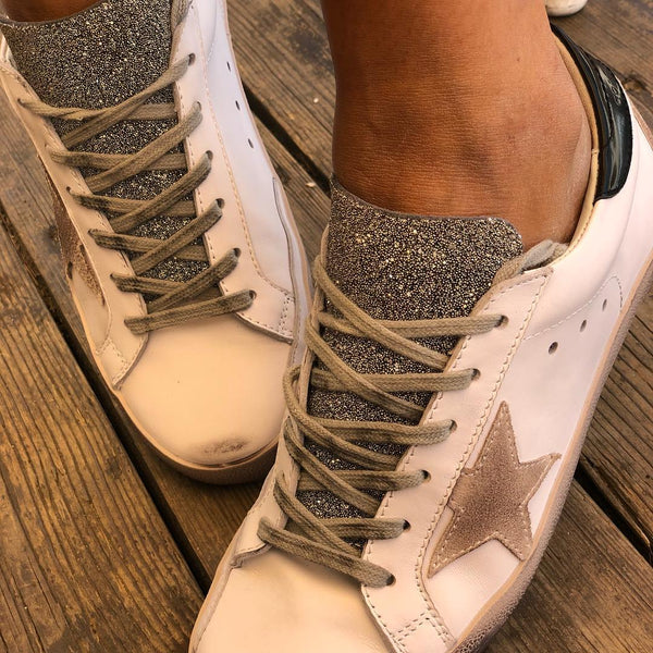 White  Daily Flat Heel Sneakers