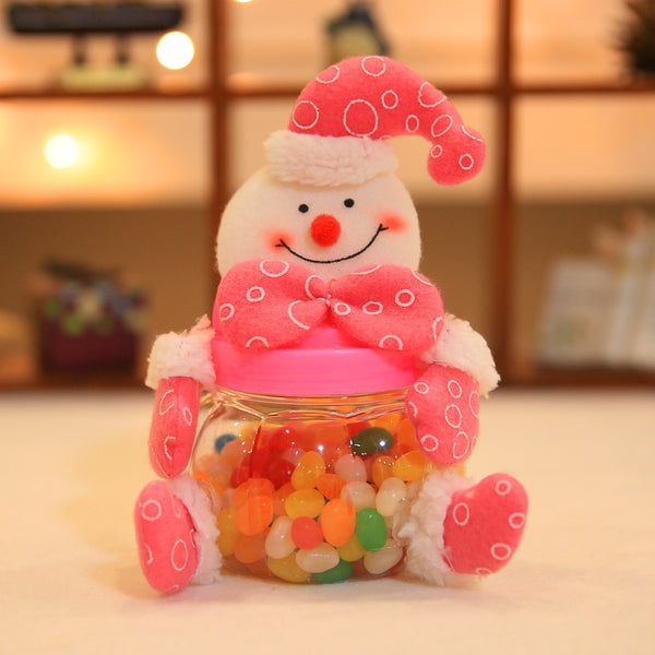Santa Claus Snowman Elk Christmas Candy Packaging Christmas Lovely Candy Jar