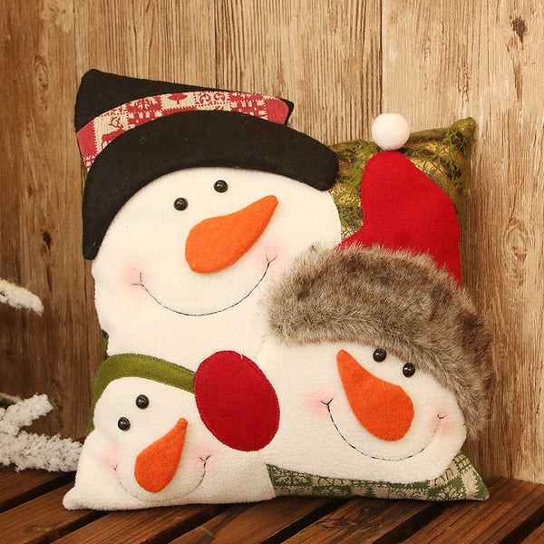 Christmas Snowman Pillow Cushion Christmas Gift Sofa Bed Decoration
