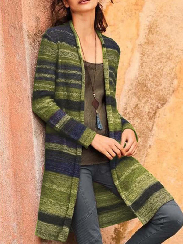Women Open-knit cashmere long sleeve Cozy Plus Size cardigan