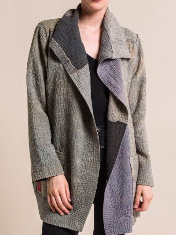 Gray Casual Long Sleeve Outerwear