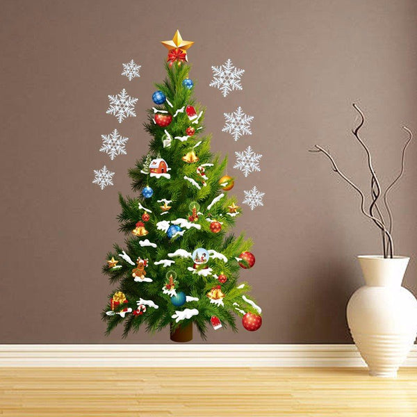 Christmas Tree Removable DIY Window Wall Sticker Home Party Decoration